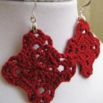 Dark Red Celtic Knot Earrings