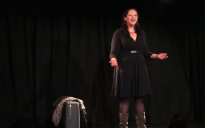 Amy Clare Tasker in The Helen Project at the Canal Cafe Theatre, April 2015