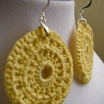 Yellow sun disc earrings