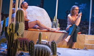 Prickly sensation … Danny Webb and Saskia Reeves in The Mistress Contract at the Royal Court.